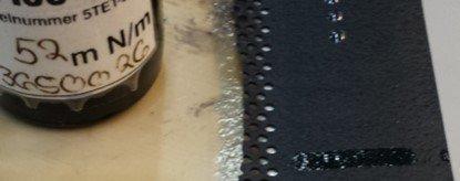 Ethylen-Propylen-Dien-Kautschuk (EPDM) Testtinten Messung nach der Plasmabehandlung