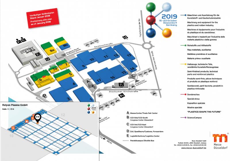 Hallenplan K trade fair Düsseldorf 2019