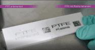 Plasmatechnologie für bessere Farbhaftung und höchste Druckqualität : Haftungsprobe von Inkjetdruck auf unbehandeltem und plasmabehandeltem PTFE