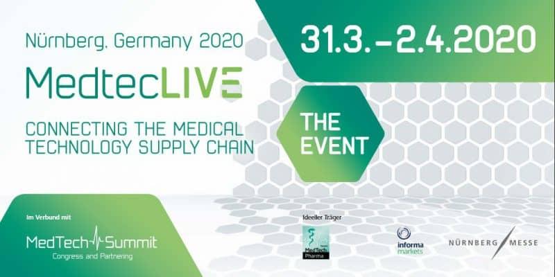 relyon plasma präsentiert alf der MedtecLIVE 2020 den Einsatz von Plasmatechnologie in der Medizintechnik