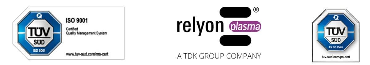 Nach der positiven Auditierung durch den TÜV SÜD erhielt die relyon plasma GmbH jetzt zusätzlich zur Zertifizierung nach DIN EN ISO 9001:2015 auch die Zertifizierung nach DIN EN ISO 13485:2016.