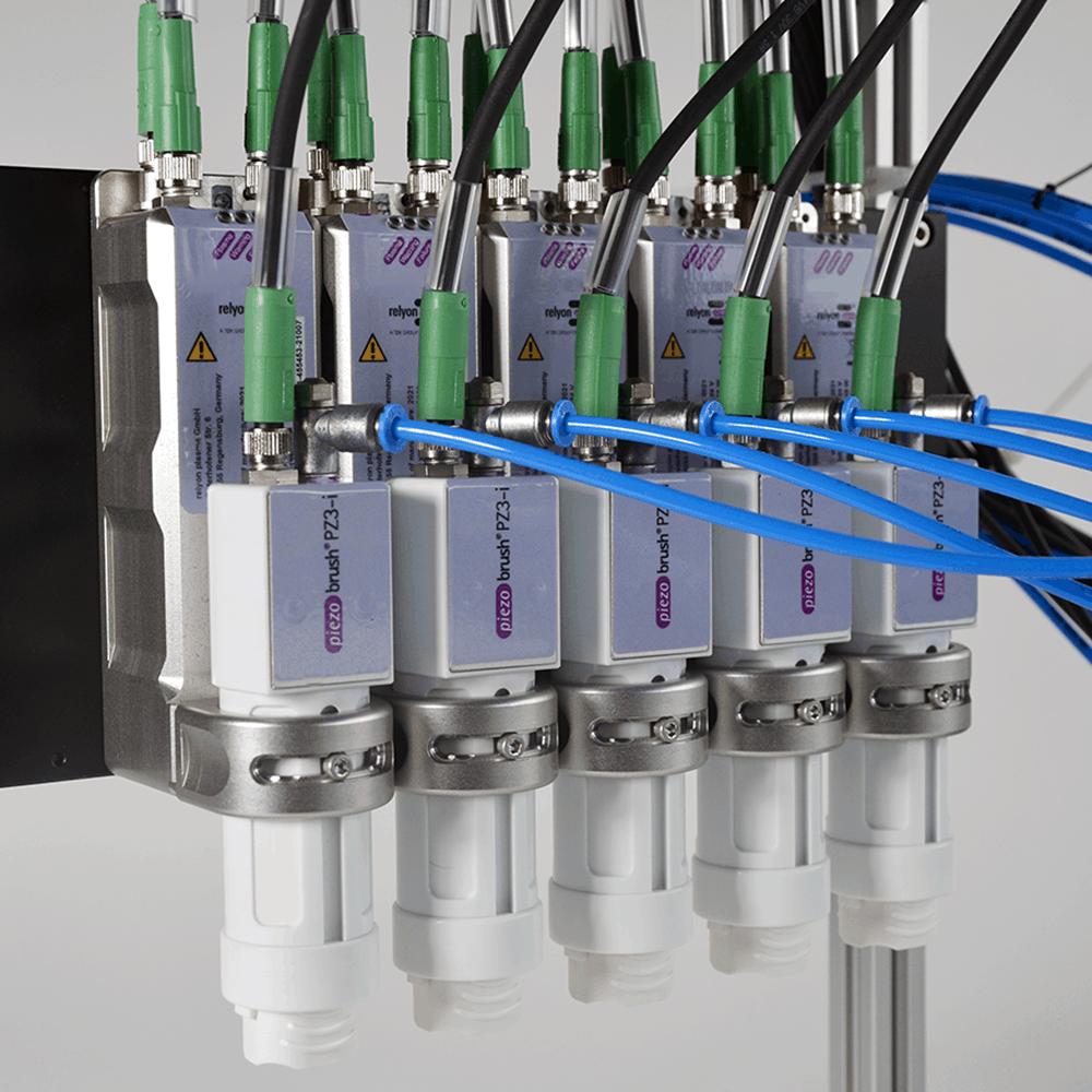 piezobrush® PZ3-i Modularität durch Aneinanderreihung